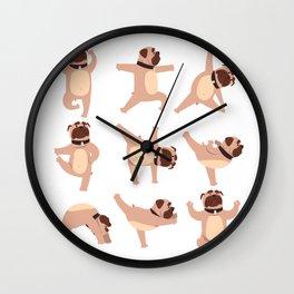 animal crossing, yoga dog Wall Clock