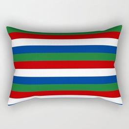 gambia flag stripes Rectangular Pillow