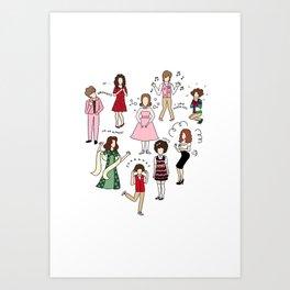 Kristen Wiig Characters Art Print