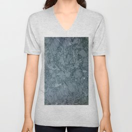 Abstract Ice on Steel Derrick quarry Unisex V-Neck