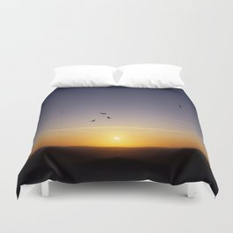 Sunset over Sussex Duvet Cover