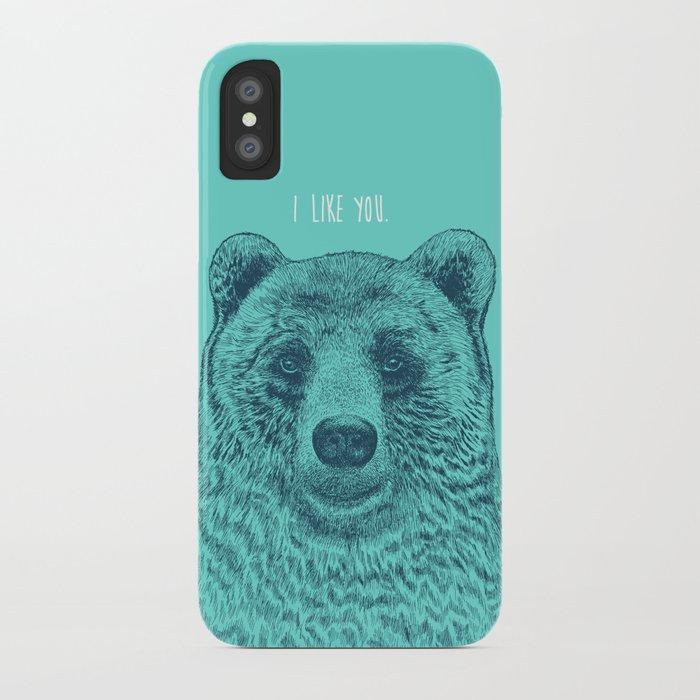 I Like You (Bear) iPhone Case