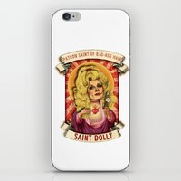 dolly parton iPhone & iPod Skins featuring Saint Dolly by Amelia Jude