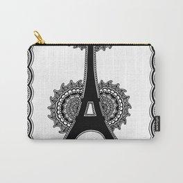Henna Eiffel Tower Paris Carry-All Pouch