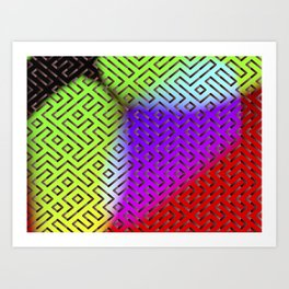 Rainbow Labyrinth Art Print