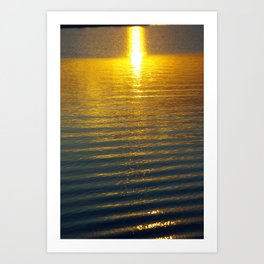 Golden River Art Print