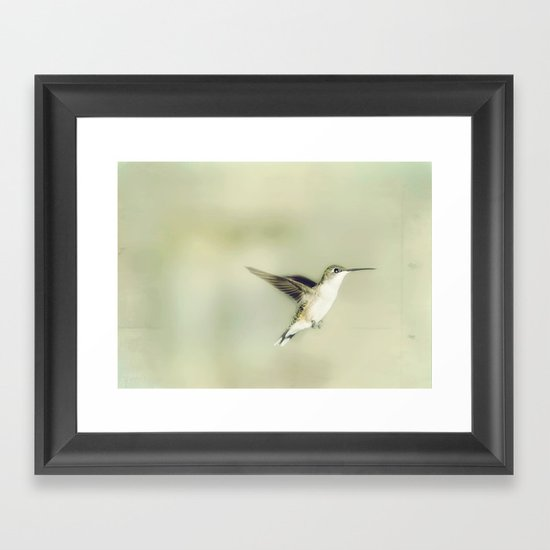 Mid flight Framed Art Print