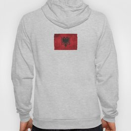 Old and Worn Distressed Vintage Flag of Albania Hoody