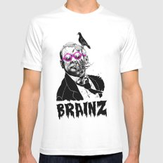political zombie theme Mens Fitted Tee White MEDIUM