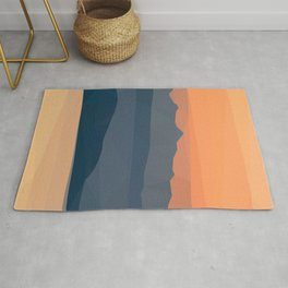 Mountain and Sea Evening Rug
