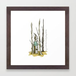 Tumbling through the trees. Framed Art Print