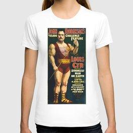 Louis Cyr, Strongest Man on Earth T-shirt
