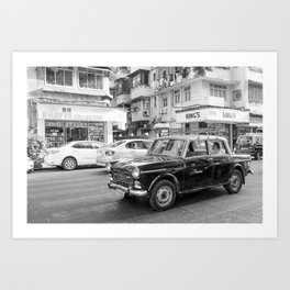 Mumbai Cab Ride Art Print
