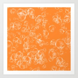 Bubbles Neck Gator Orange Bubbles Art Print