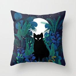 mystical cat Throw Pillow