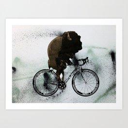 BUFF RIDER Art Print