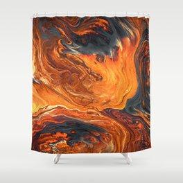 Lava Art Shower Curtain