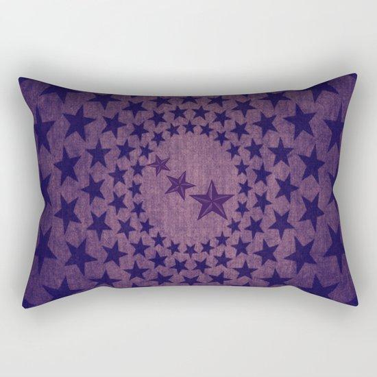 Purple stars decorative pattern Rectangular Pillow