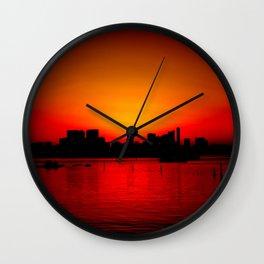 Tokyo Skyline Sunset Wall Clock