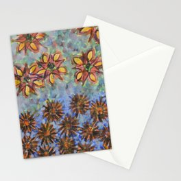Asters and Paradise Flowers Stationery Cards