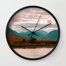 Mountain House Wall Clock