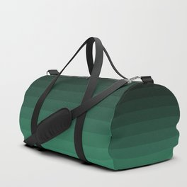 Black and green striped Ombre Duffle Bag