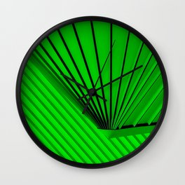 Lime Lines Study Wall Clock