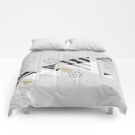 Geometric abstract triangles Comforters