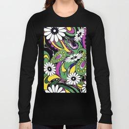 60s Daisy Paisley Long Sleeve T-shirt