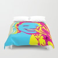 angelina jolie Duvet Covers featuring Angelina by Becky Rosen
