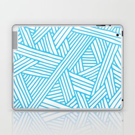 Abstract Teal & white Lines and Triangles Pattern - Mix and Match with Simplicity of Life Laptop & iPad Skin