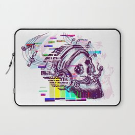 Human skull glitch Laptop Sleeve