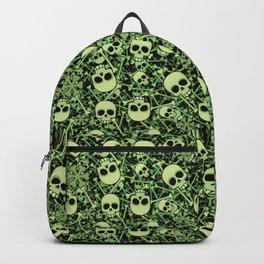 Skull Pattern   Bones Heavy Metal Cemetery Backpack