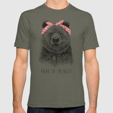 Break the rules Mens Fitted Tee Lieutenant LARGE