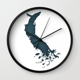 California is...The Ocean Wall Clock