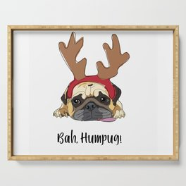 Bah Humpug Reindeer Dog Serving Tray