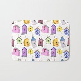 Bird Houses Bath Mat
