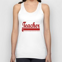 teacher Tank Tops featuring Teacher Humor by The Spunky Teaching Monkey- Teacher Stor