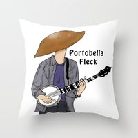 jay fleck Throw Pillows featuring PortoBella Fleck  by Pattavina