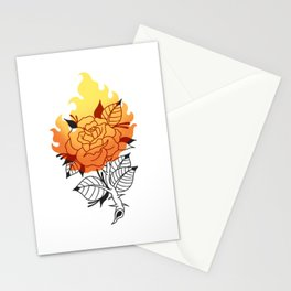 Burning Rose Stationery Cards