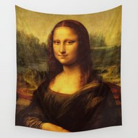 da vinci Wall Tapestries featuring Leonardo Da Vinci Mona Lisa Painting by Art Gallery