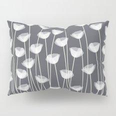 White Poppies Pillow Sham