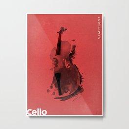 Symphony Series: Cello Metal Print