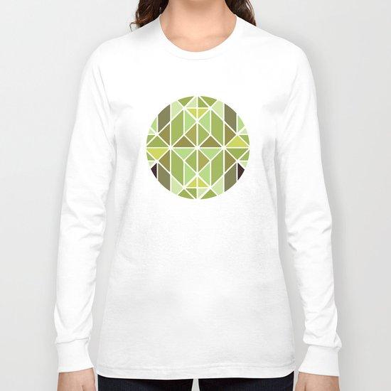 Green Mosaic Long Sleeve T-shirt