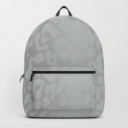 White Silver Leopard Print Backpack