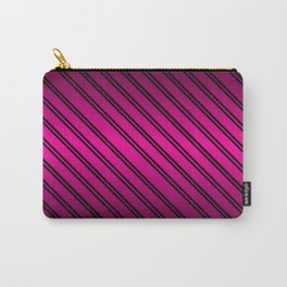 Pink and Black Gradient w/Black Lines Carry-All Pouch