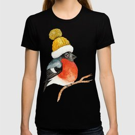 Christmas Bird Bullfinch T-shirt