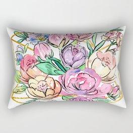 Floral Geometry Rectangular Pillow