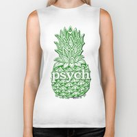 psych Biker Tanks featuring Psych Pineapple! by Alohalani