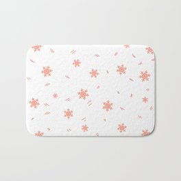 Kid pattern. Seamless winter кpattern on a white background. Bath Mat